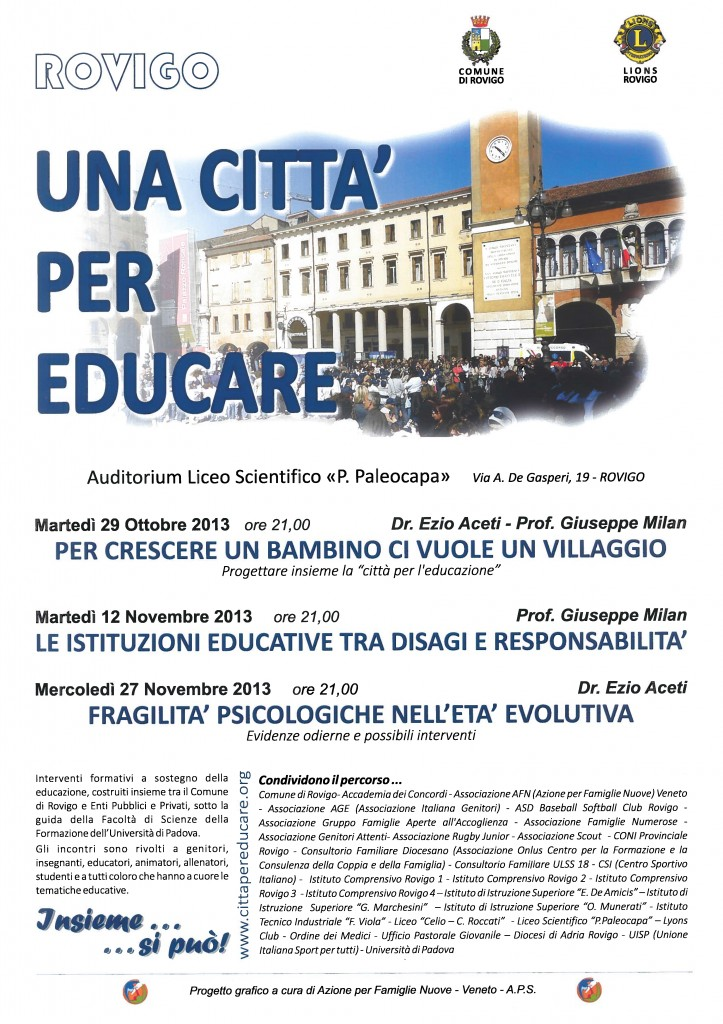 Locandina Città per Educare